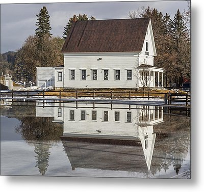 Reflected Town House Metal Print