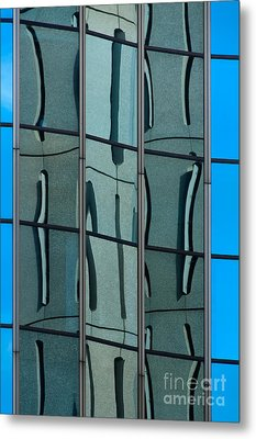 Metal Print featuring the photograph Reflecting Eagle 1 by Werner Padarin