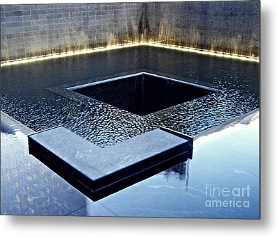 Reflecting On Nine Eleven 1 Metal Print by Sarah Loft