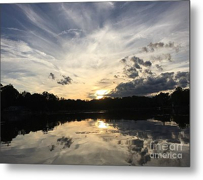 Reflecting Upon The Sky Metal Print