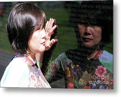 Reflection At The Wall Pt.2 Metal Print