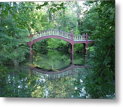Reflection Bridge Metal Print