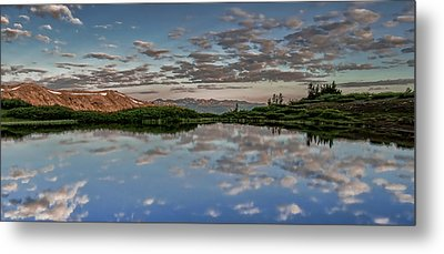 Metal Print featuring the photograph Reflection In A Mountain Pond by Don Schwartz