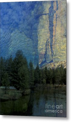 Metal Print featuring the photograph Reflection In The Merced River by Stan and Anne Foster