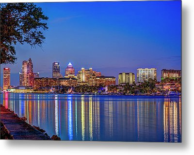 Reflection Of A City Metal Print by Marvin Spates