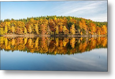 Reflection Of Autumn Metal Print by Andreas Levi