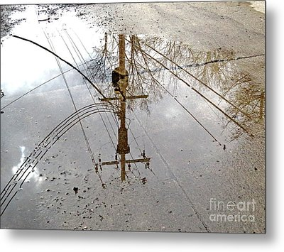 Puddle Reflections  Metal Print