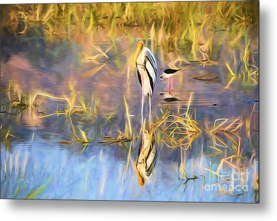 Reflection Metal Print by Pravine Chester