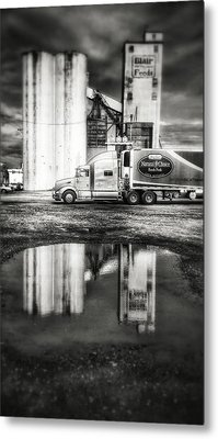 Reflection Puddle Metal Print by Dustin Soph