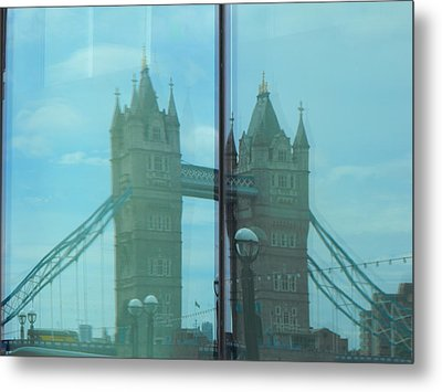 Reflection Tower Bridge Metal Print