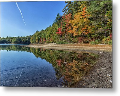 Reflections At Walden Pond Metal Print by Brian MacLean