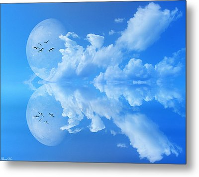 Metal Print featuring the photograph Reflections by Bernd Hau