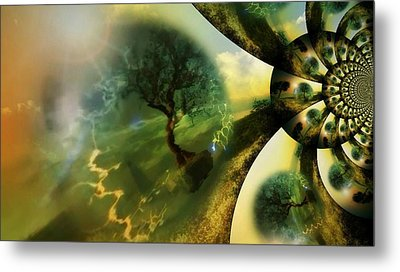 Reflections Metal Print by Digital Art Cafe