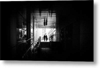 Reflections - Dublin, Ireland - Black And White Street Photography Metal Print by Giuseppe Milo