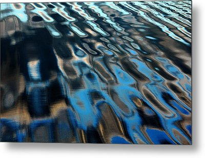 Metal Print featuring the photograph Reflections From A Dock by Debbie Oppermann