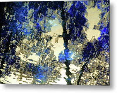 Reflections In Blue Metal Print by Carolyn Stagger Cokley