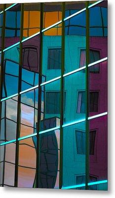Reflections In Colour Metal Print by Elisabeth Van Eyken