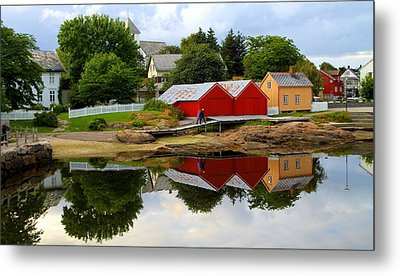 Reflections In Rorvik Metal Print