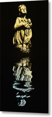 Reflections In The Moonlight Metal Print by Bill Cannon