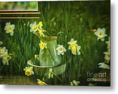 Reflections In The Window Metal Print by Mitch Shindelbower