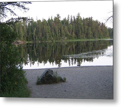 Reflections Lake 1 Metal Print by Barbara Yearty