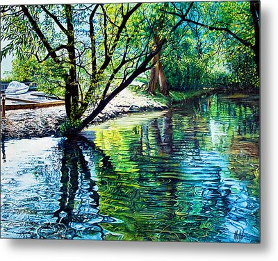Trees Reflections Metal Print