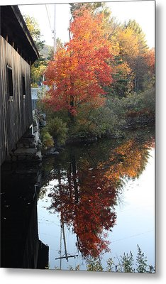 Reflections New Hampshire Metal Print by Sue Mayor