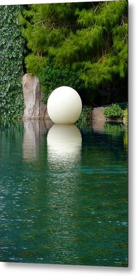 Reflections Of An Orb Metal Print