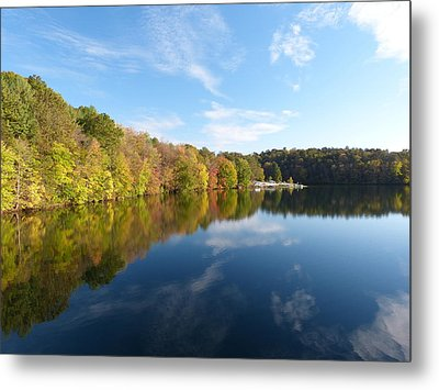 Reflections Of Autumn Metal Print by Donald C Morgan