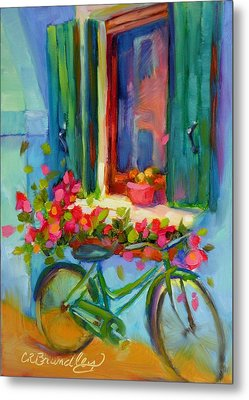 Metal Print featuring the painting Reflections Of Burano by Chris Brandley