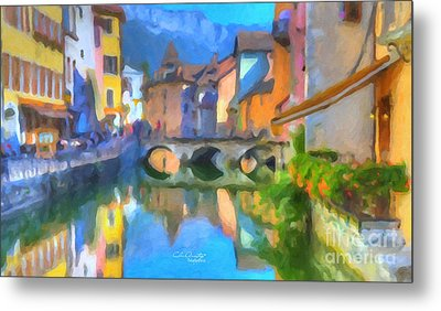 Reflections Of Eze Metal Print by Chris Armytage