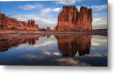 Reflections Of Organ Metal Print by Edgars Erglis