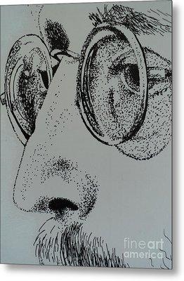 Reflections Of Peace John Lennon Metal Print by Carla Carson