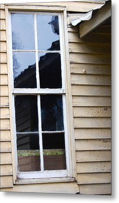 Metal Print featuring the photograph Reflections Of The Past by Debbie Karnes