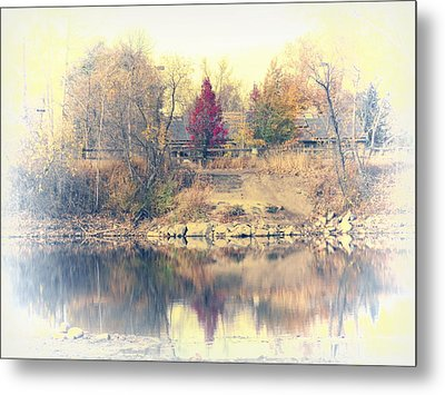 Reflections On A Pond - 2 Metal Print