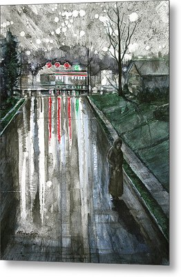 Reflections On Alone Metal Print by Patricia Allingham Carlson
