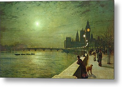 Reflections On The Thames Metal Print