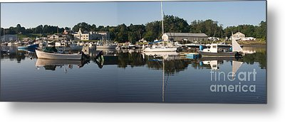 Reflections On Yarmouth Harbor Metal Print by David Bishop