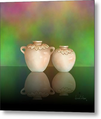 Metal Print featuring the painting Reflections by Sena Wilson