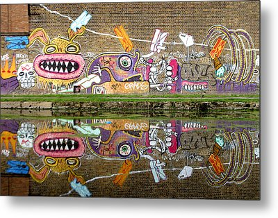 Reflective Canal 8 Metal Print by Jez C Self