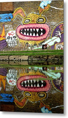 Reflective Canal 9 Metal Print by Jez C Self