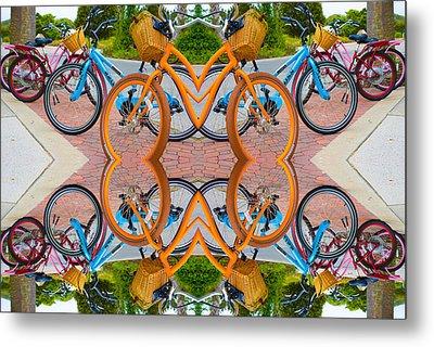 Reflective Rides Metal Print by Betsy Knapp