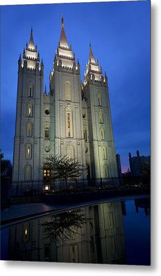 Reflective Temple Metal Print by Chad Dutson