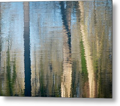 Metal Print featuring the photograph Reflet Rhodanien Pastel 2 by Marc Philippe Joly