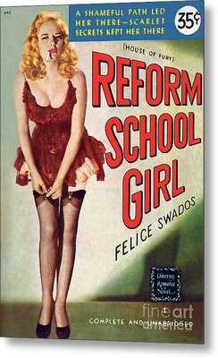 Metal Print featuring the painting Reform School Girl by Photo Cover