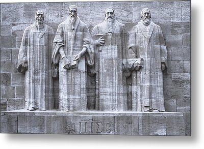 Reformers Wall, Geneva, Switzerland, Hdr Metal Print