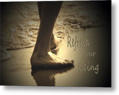 Refresh Your Being Spa Series Metal Print by Cathy  Beharriell