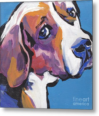 Regal Beagle Metal Print by Lea S