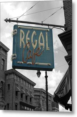Regal Cafe Metal Print by Audrey Venute