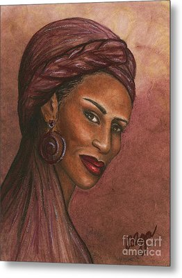 Regal Lady In Plum Metal Print